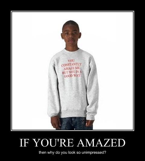 amazed funny sweatshirt wtf - 7994301696