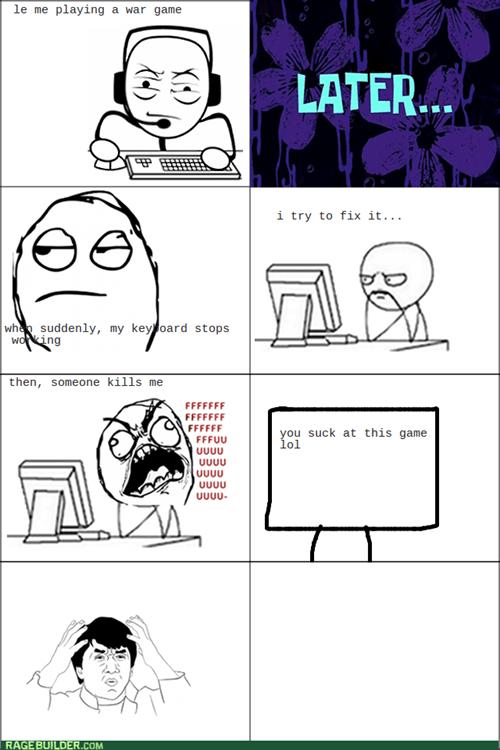 rage keyboards video games computer guy - 7994586112