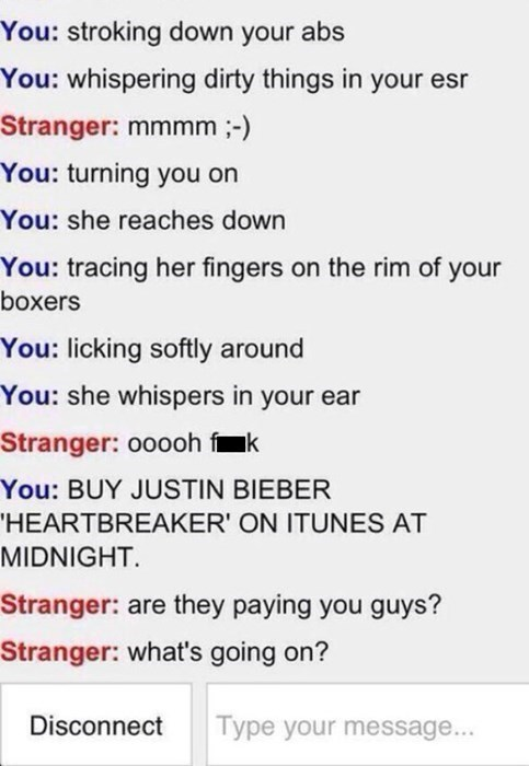 Omegle trolling sexy times chat justin bieber - 7994694144