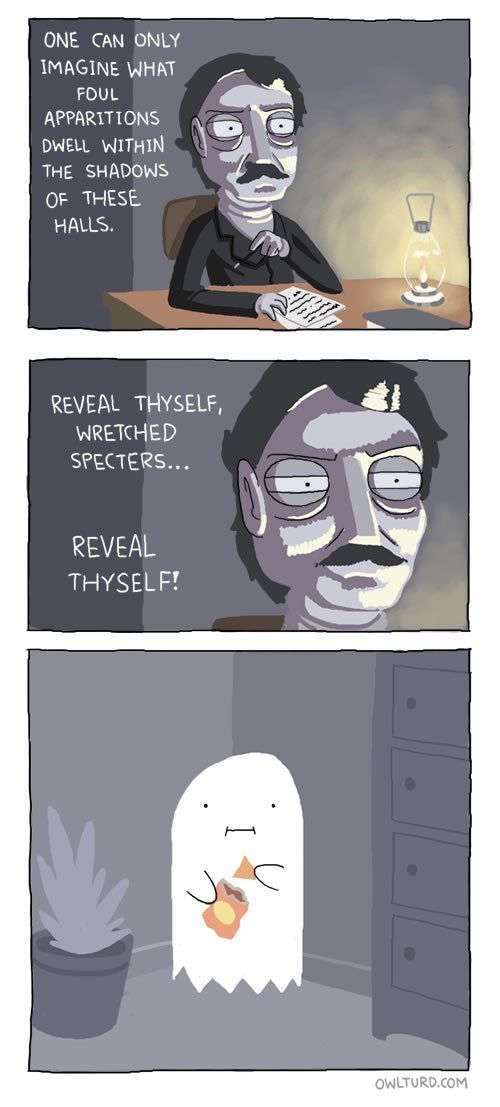 chips,edgar allen poe,ghosts,web comics,poetry