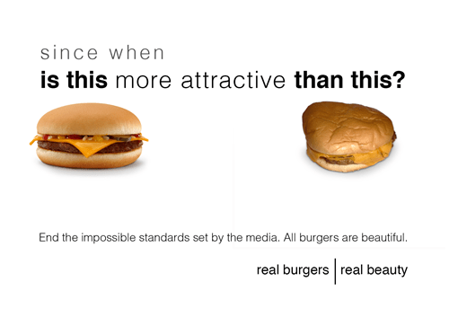 real beauty,McDonald's,cheeseburgers,burgers