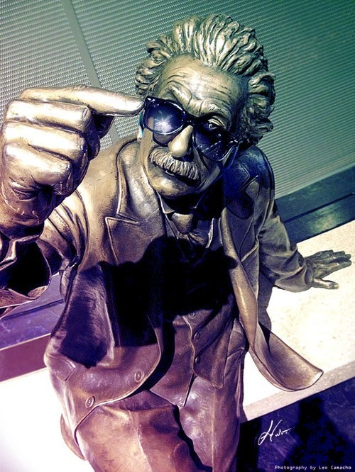 sunglasses,statue,albert einstein,funny