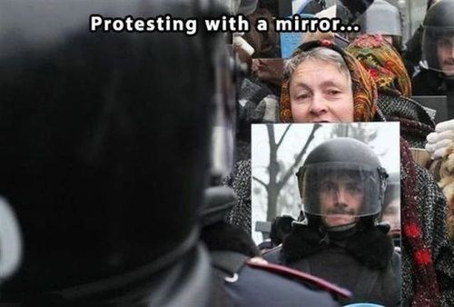 mirrors,protests