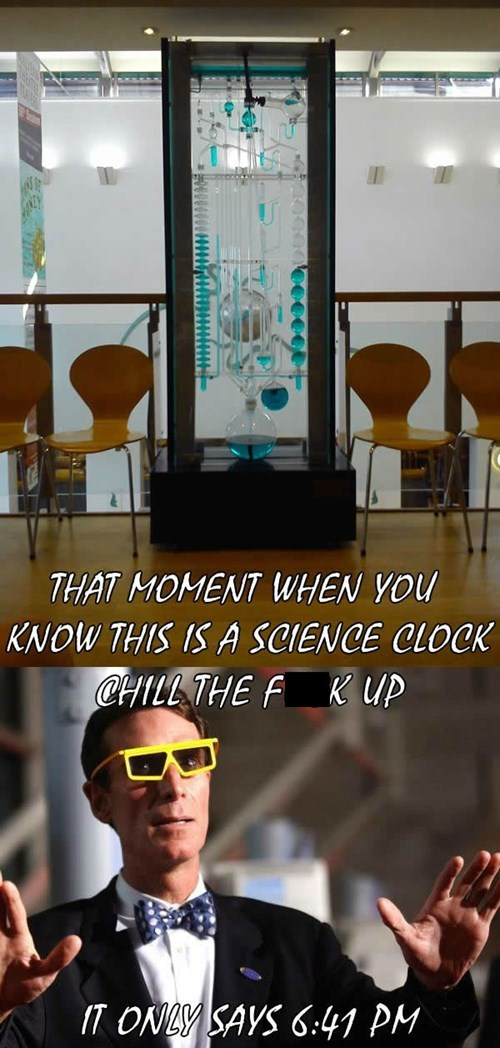 bill nye,clocks,chill,science,funny