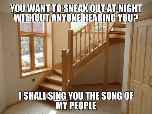 creaking,song of my people,stairs,wood