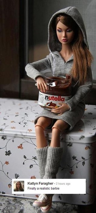 realism,Barbie,nutella