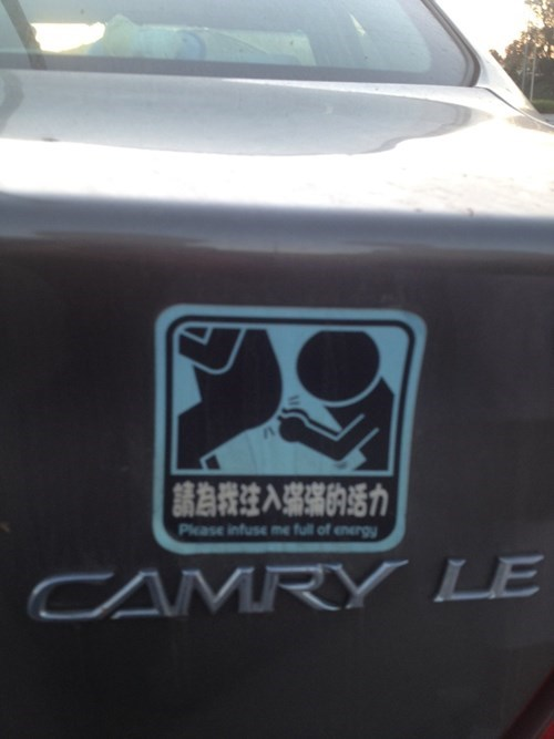 engrish,bumper sticker,cars