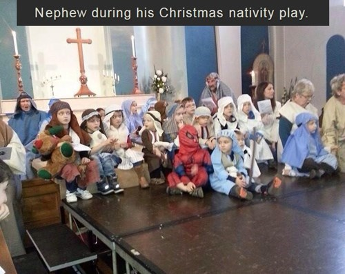 christmas the-nativity-kids Spider-Man - 7997268480