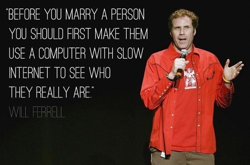 marriage,internet,Will Ferrell