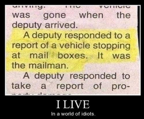 wtf mailman idiots funny police - 7997468672