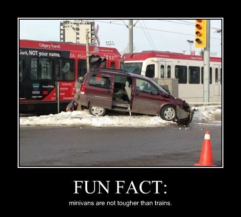 collision,idiots,trains,minivans