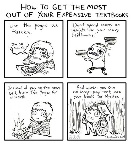 textbooks,college,web comics