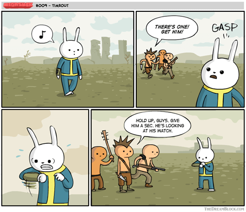time out,fallout,Videogames,web comics