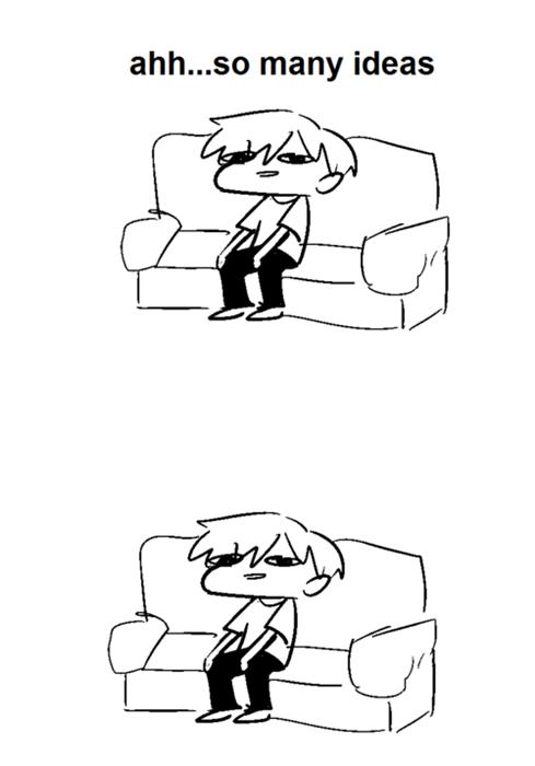 lazy,sitting
