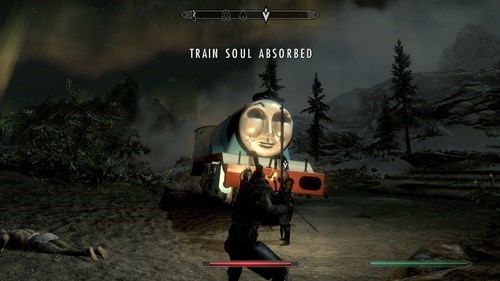 thomas the tank engine,mods,Skyrim