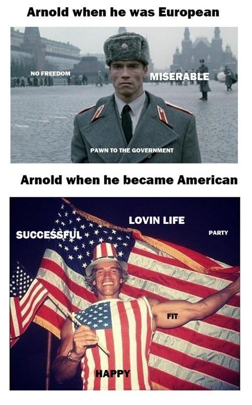 europe,Arnold Schwarzenegger,america