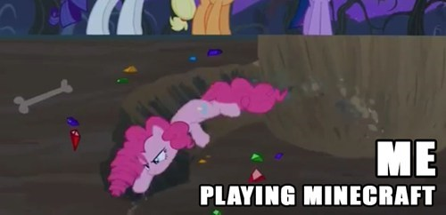 always mining,pinkie pie,minecraft