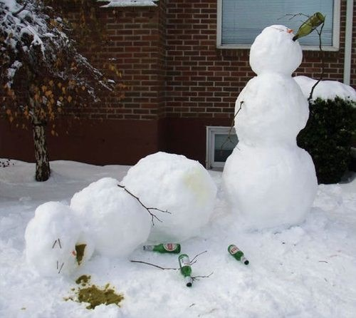 beer,wtf,drunk,snowmen,funny