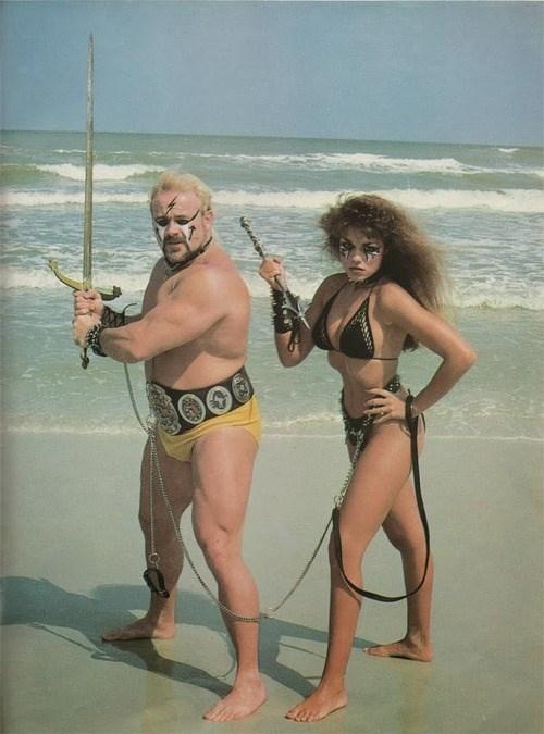 wtf,beach,swords,make up,ideal couple