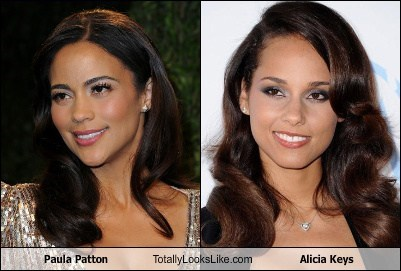 alicia keys,totally looks like,paula patton
