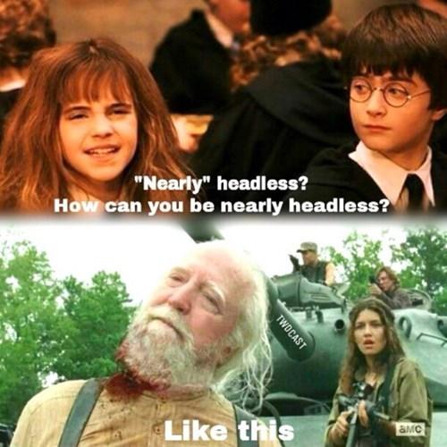 nearly headless nick Harry Potter hershel greene - 7998027264