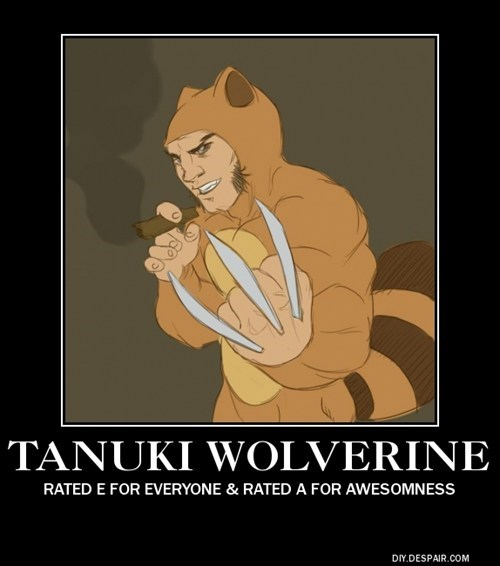 tanuki,x men,wolverine,mario