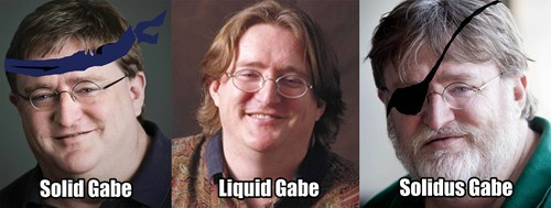 gabe newell,metal gear solid,gaben