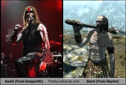 Gaahl (From Gorgoroth) Totally Looks Like Giant (From Skyrim)