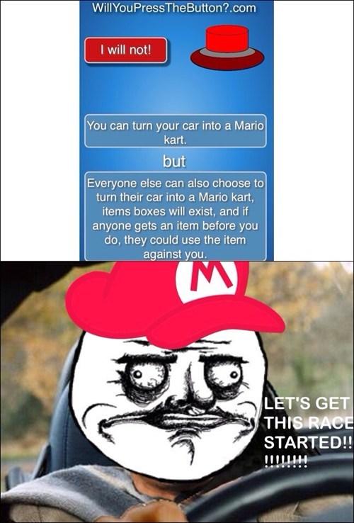 Mario Kart will you press the button - 7999377920