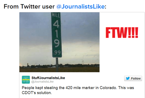 420 WIN--Thanks, CDOT!