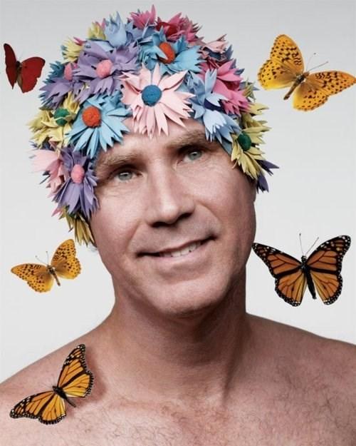 butterfly,flowers,Will Ferrell