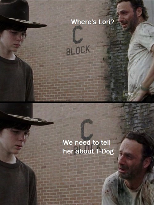 t dog sad rick lori grimes - 7999915008