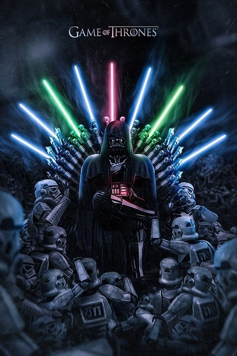 Game of Thrones iron throne darth vader