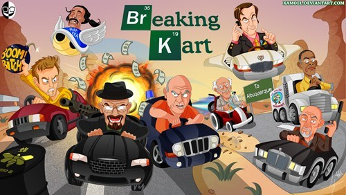 crossover,breaking bad,Mario Kart,Fan Art