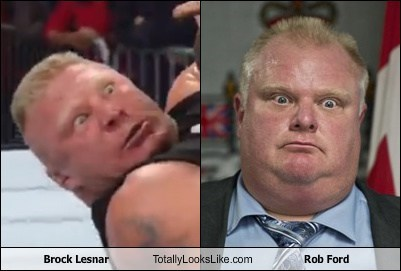 Brock Lesnar totally looks like rob ford - 7999956480