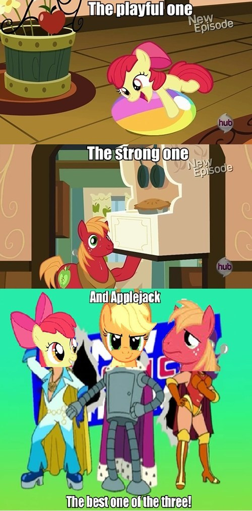 applejack,Apple Family,apple bloom,futurama