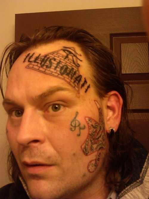 illuminati pyramids tattoos head tats - 8001081856