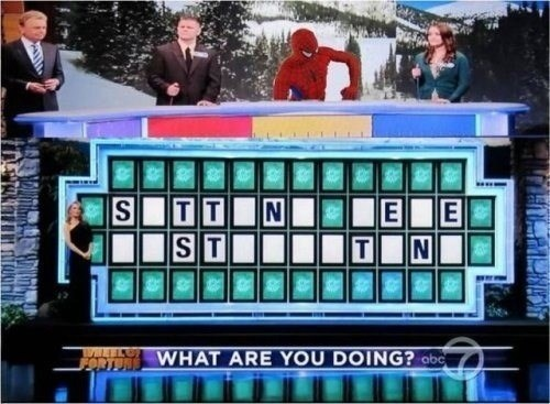 wheel of fortune Spider-Man just sitting here - 8001588224