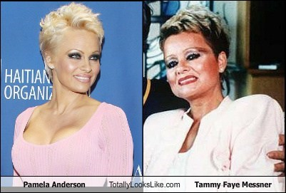 Pamela Anderson Totally Looks Like Tammy Faye Messner