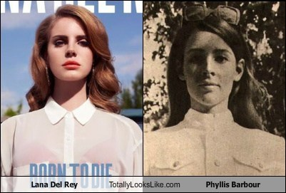 lana del rey,totally looks like,phyllis barbour