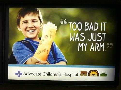 broken arms,hospital