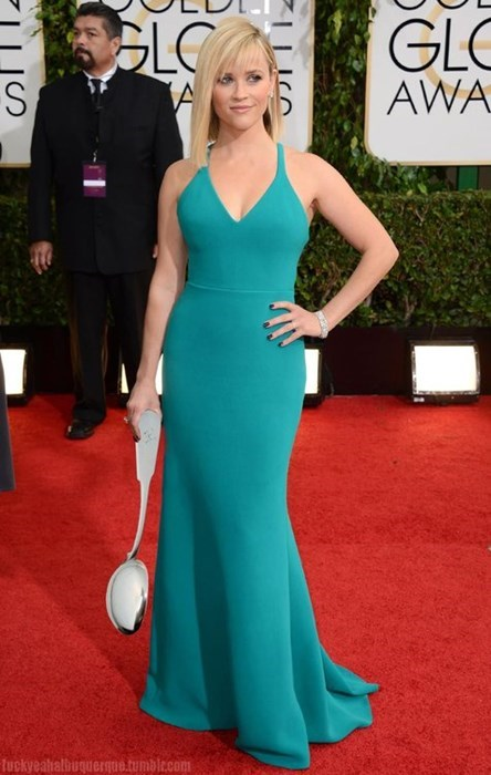 fashion golden globes Reese Witherspoon puns celeb poorly dressed g rated - 8002120960