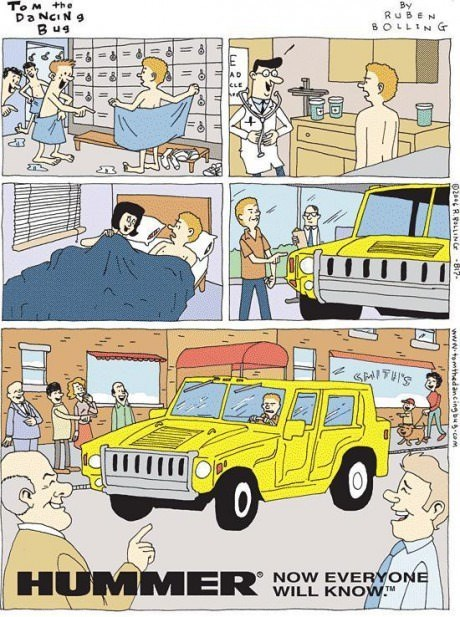 cars,hummers,web comics,masculinity issues