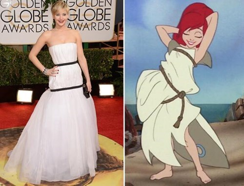 ariel,jennifer lawrence,totally looks like