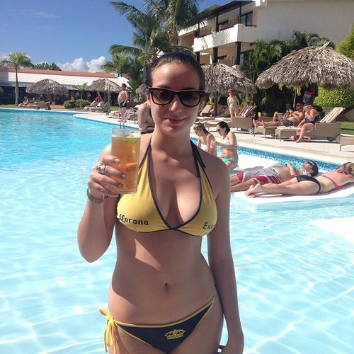 beer corona funny swimsuit sponsored - 8002242816