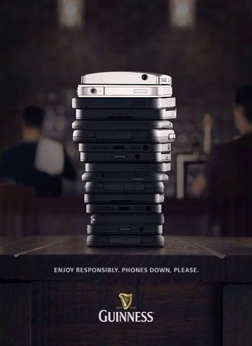 beer ads guinness funny phones