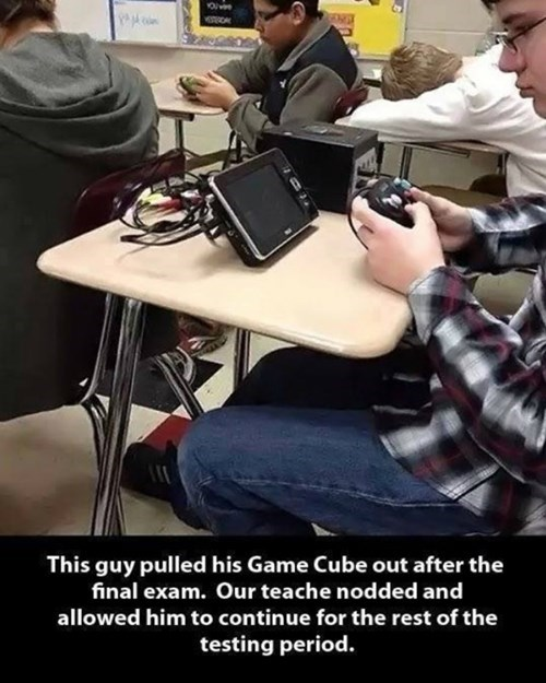 school tests gamecube nintendo exams - 8002289664