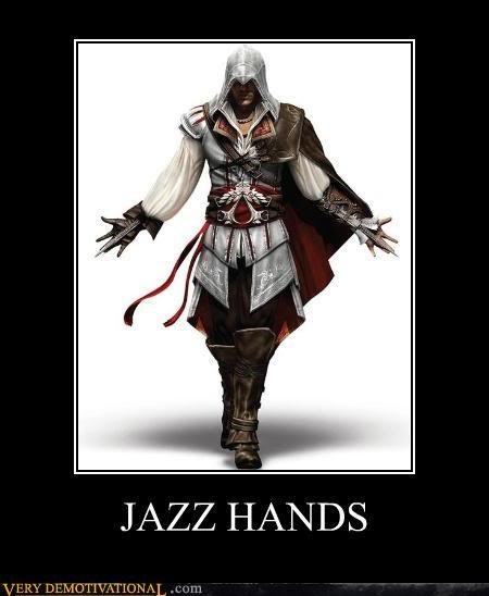 jazz hands,deadly,assassins creed,video games,funny