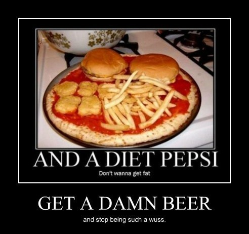 beer,diet pepsi,pizza,funny