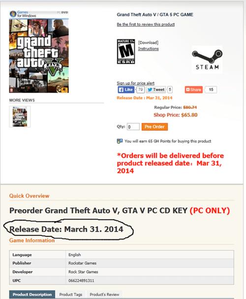 pc games GTA V Video Game Coverage - 8002394112